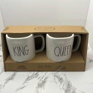 NWT Rae Dunn King and Queen Mug Set Classic Black